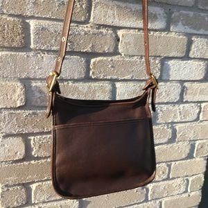 Coach 9966 Classic Leather Legacy Zip Bag Mocha
